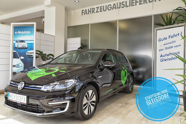 Auslieferung VW e-Golf Gemeinde Gleisdorf